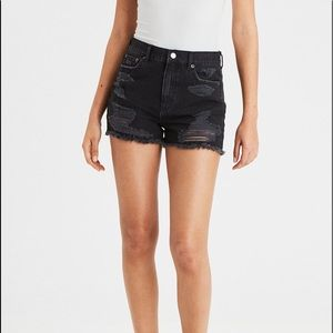 American Eagle Distressed Mom Shorts
